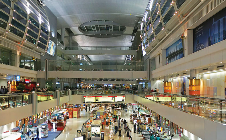 Interior of Dubai International Airport